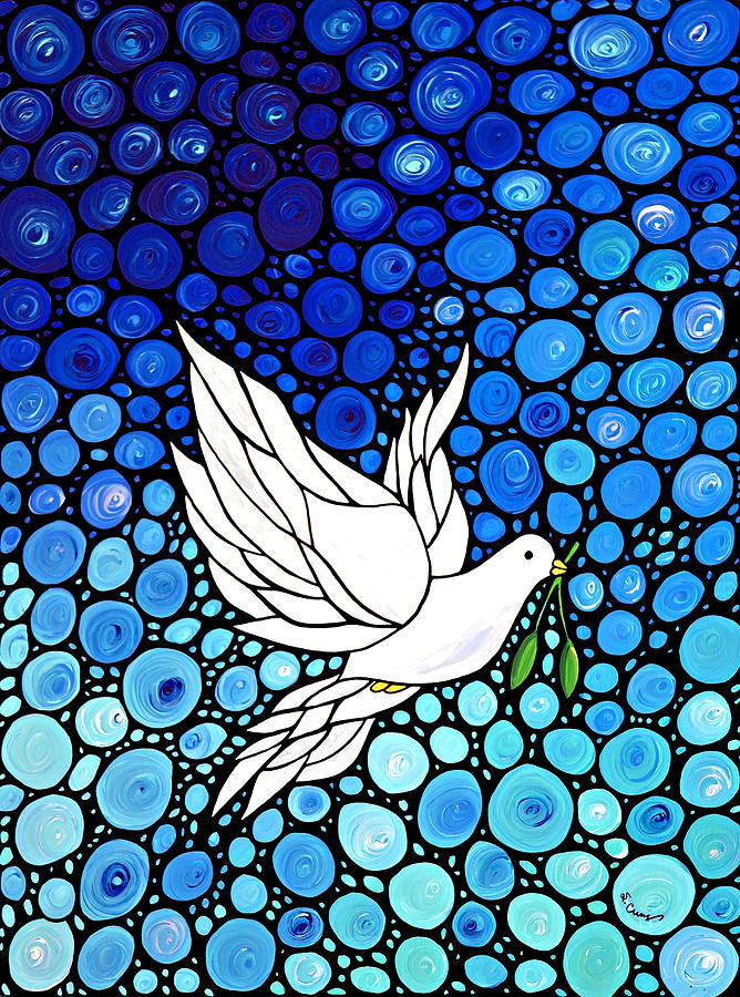 Stained Glass clipart dove peace Dove Journey Peaceful White Art