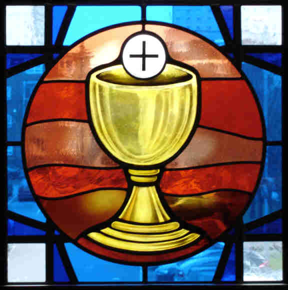 Stained Glass clipart eucharist That one intention should Symbols