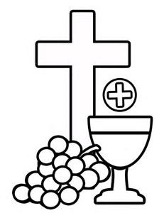 Stained Glass clipart first communion And Communion Templates Communion First