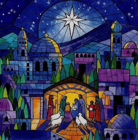 Stained Glass clipart manger scene Glass of glass stained this