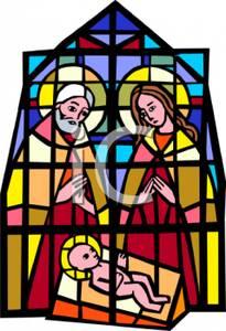 Stained Glass clipart manger scene Nativity Art Art Free Clipart
