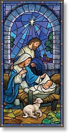 Stained Glass clipart manger scene And on Pinterest Pin ideas