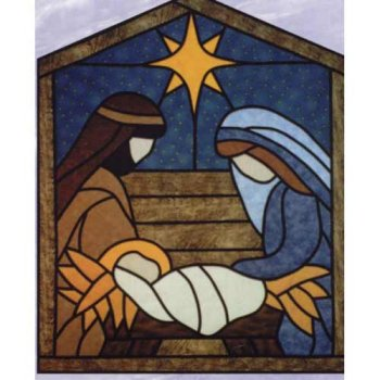 Stained Glass clipart manger scene Designs Designs by  Glass
