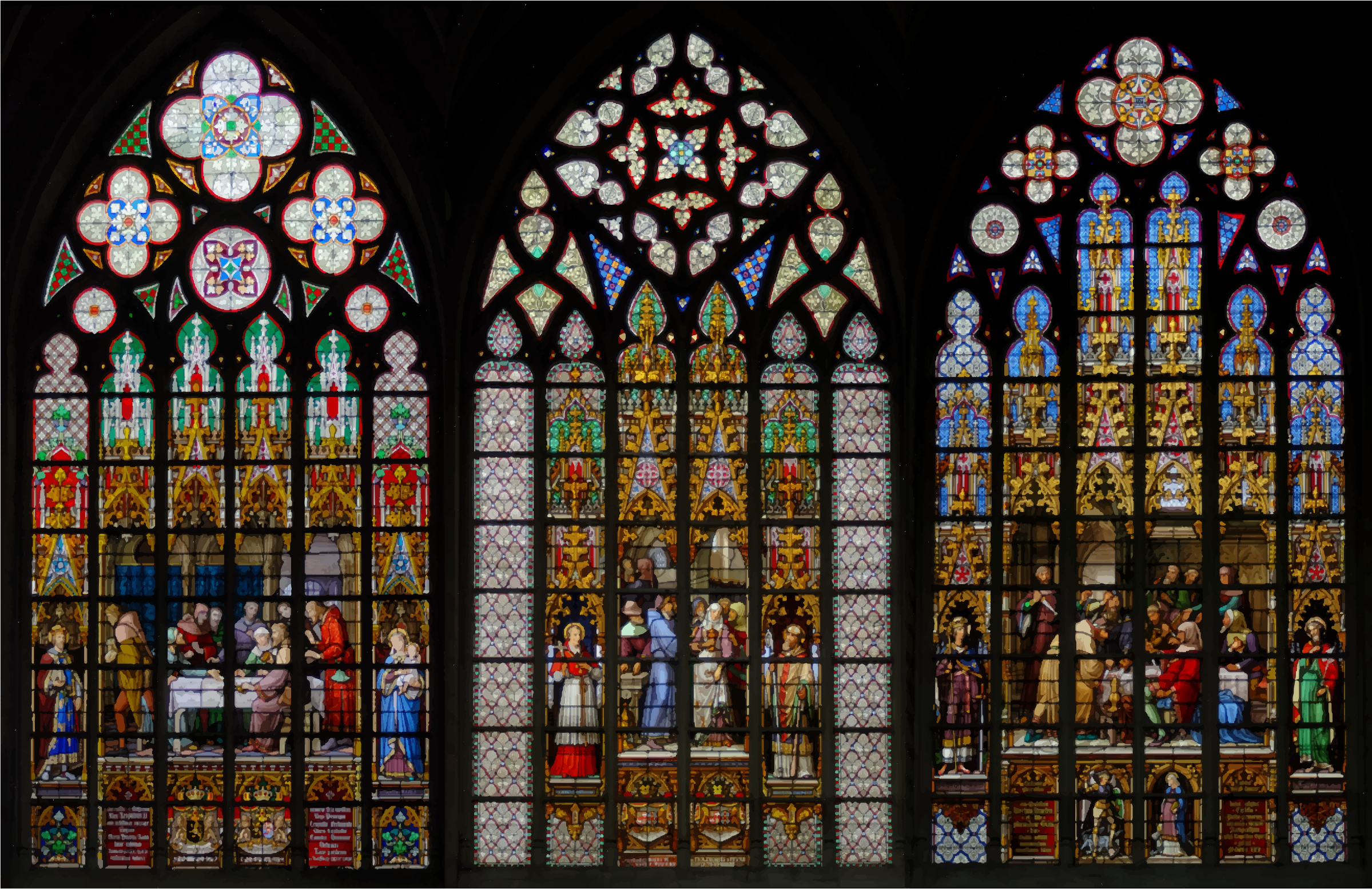 Stained Glass clipart medieval Glass Stained Cathedral et Michel