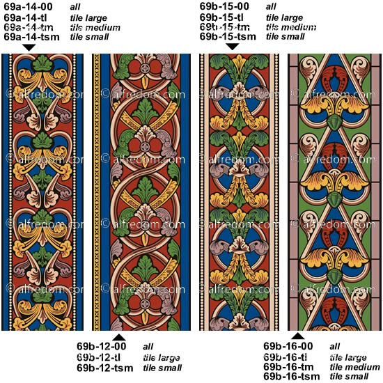 Stained Glass clipart medieval Of clip Ornament motifs Vol