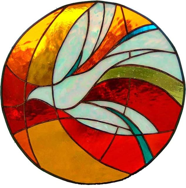 Simple clipart stained glass window #8