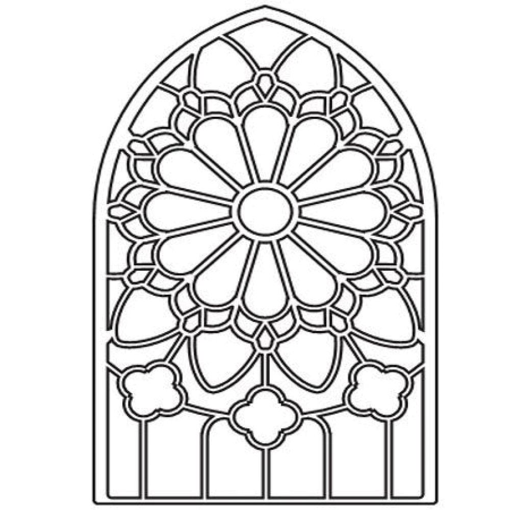Simple clipart stained glass window #3