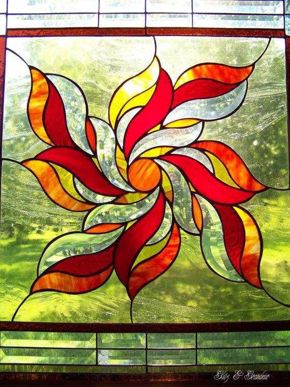 Stained Glass clipart sunburst #2