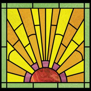 Stained Glass clipart sunburst #4