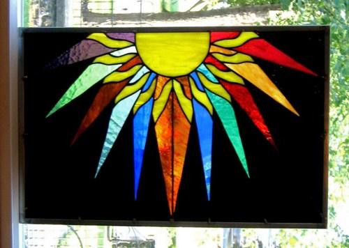 Stained Glass clipart sunburst #9