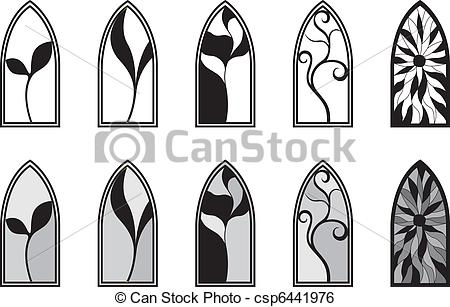 Stained Glass clipart vector Depicting Glass Stained Vector