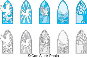 Stained Glass clipart vector Free glass  depicting 8