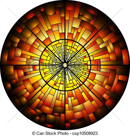 Stained Glass clipart vector Window Stained of Glass