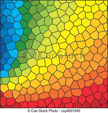 Stained Glass clipart vector  Rainbow Stained of Glass