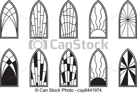 Stained Glass clipart vector  Windows Stained of Glass
