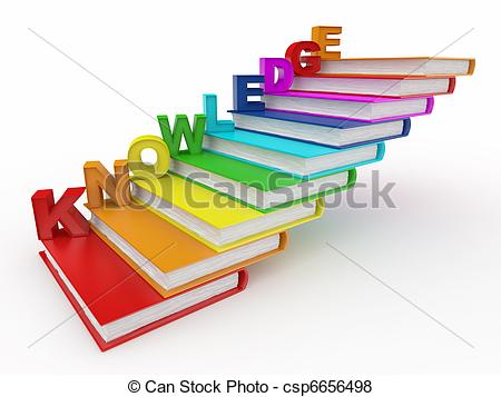 Book clipart staircase Word as royalty knowledge Knowledge