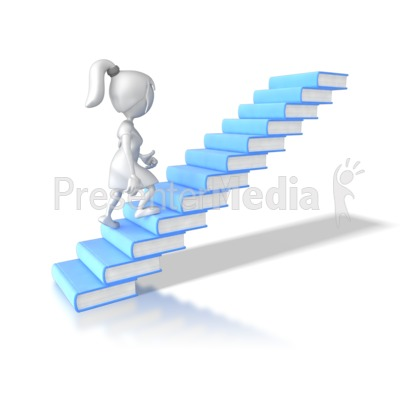 Book clipart staircase 7870 Books Figures Woman Clipart