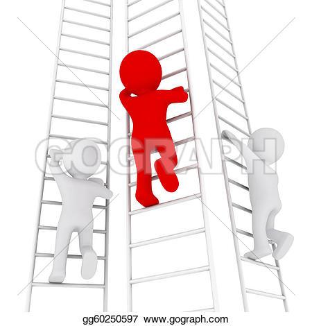 3D clipart ladder Clipart Three gg60250597 Stock 3d