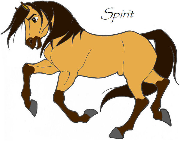 Drawn spirit mustang horse Spirit Draw Cimarron Stallion of
