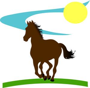 Horse Racing clipart wild animal In in Stallion Running Clip