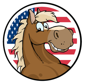 America clipart american symbol Horse with with Flag Image