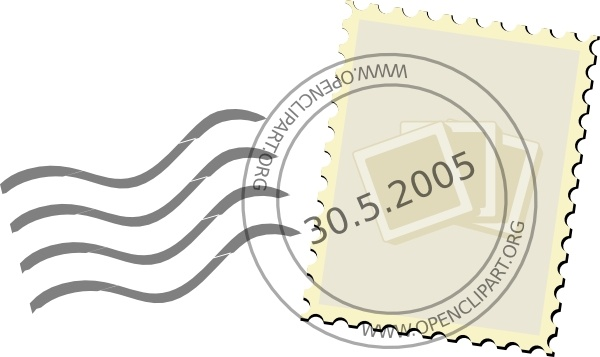 Stamp clipart Postage vector in  Open