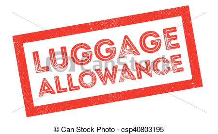 Stamp clipart luggage #9