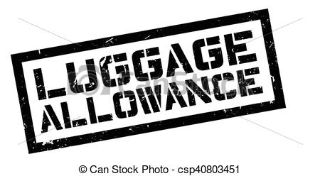 Stamp clipart luggage #8