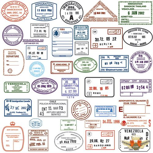Stamp clipart passport #8
