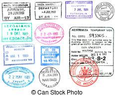 Stamp clipart us passport #2