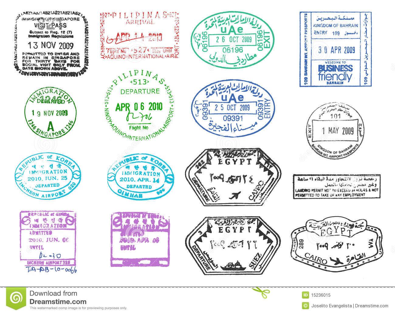 Stamp clipart us passport #4