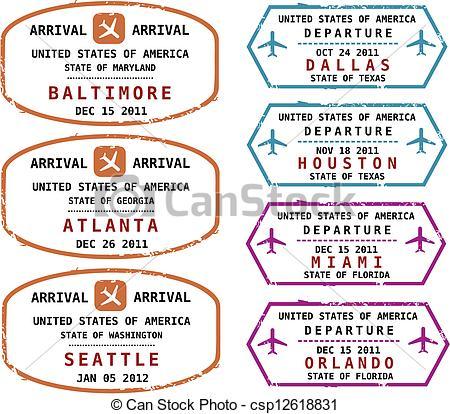 Stamp clipart us passport #3