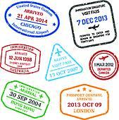 Stamp clipart visa #3