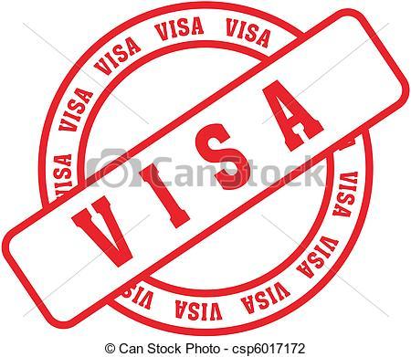 Stamp clipart visa #11