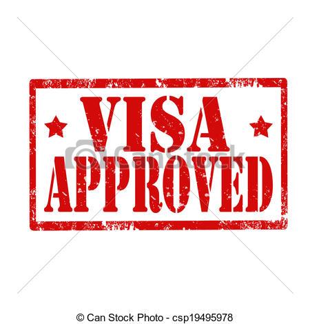 Stamp clipart visa #8