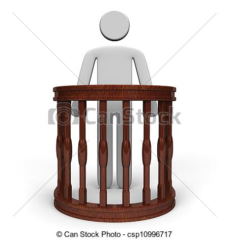 Stands clipart front view  Witness View Front Stock
