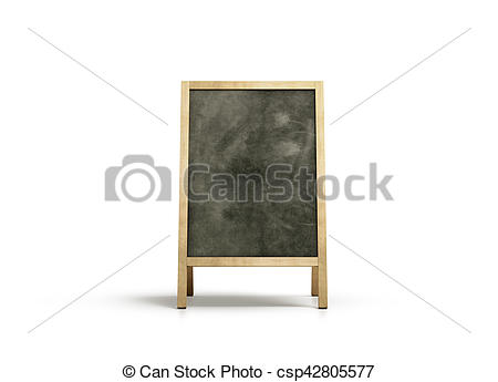 Stands clipart front view Illustrations stand chalkboard Blank outdoor