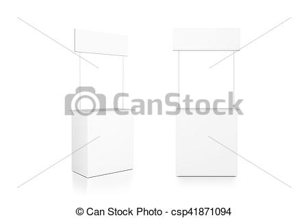 Stands clipart front view Promo clipping counter of Illustration