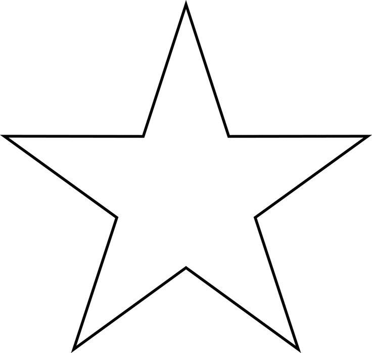 Star clipart Template Star Best 1 craft