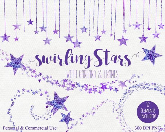 Star clipart lavender PURPLE PURPLE Clip  Star