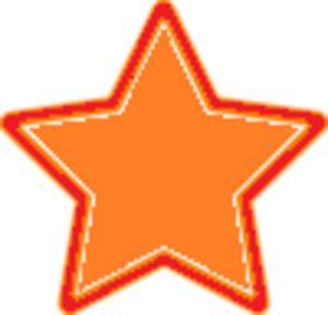 Star clipart orange Clip Star art Image