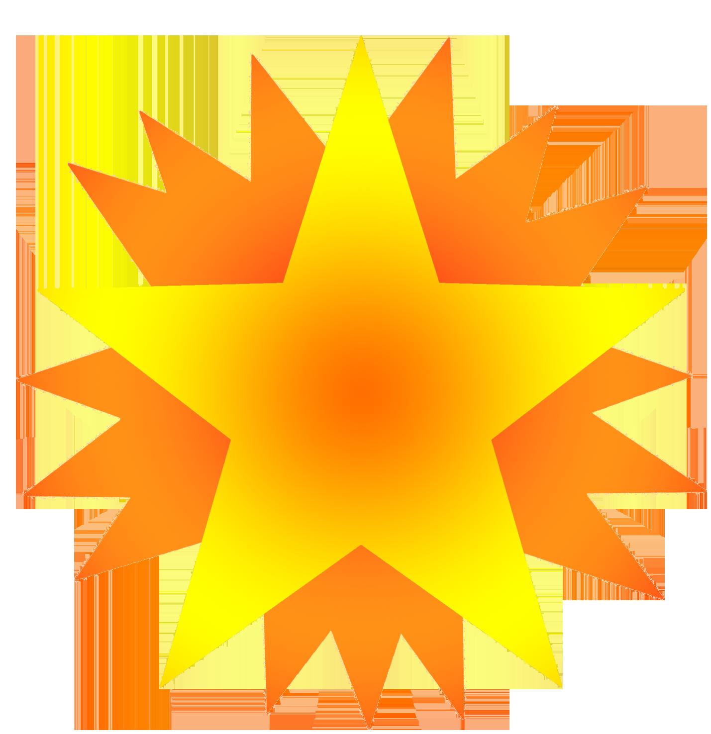 Stars clipart orange Red stars on on Star