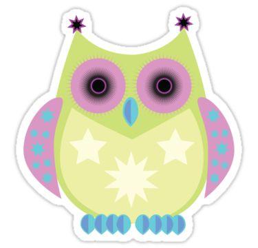 Owlet clipart pastel Blue Green 113 Owl Purple