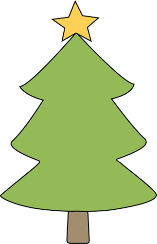 Christmas Tree clipart simple Free Clip Tree Star Images