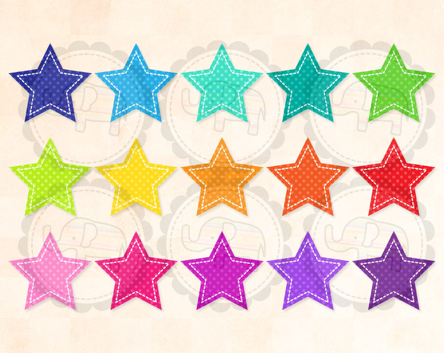 Dots clipart star Dot Art Clip Stitched Commercial