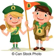 Hiking clipart salute 2 clip flat and illustration