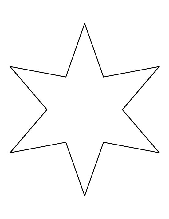 Drawn stare template cut out Printable Best template Six Star