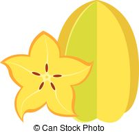 Star Fruit clipart Carambola royalty or Star Starfruit