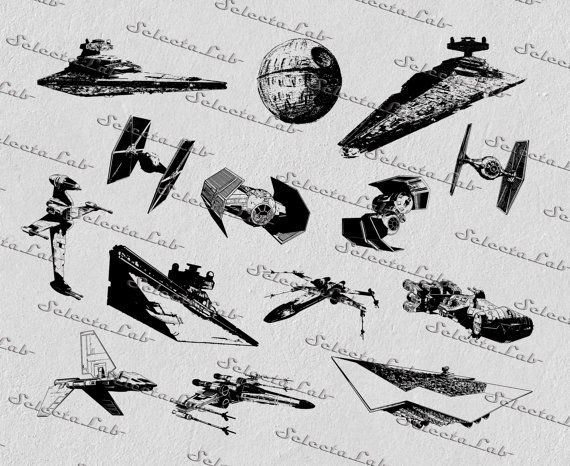 Star Wars clipart aircraft Digital destroyer clipart Studio from
