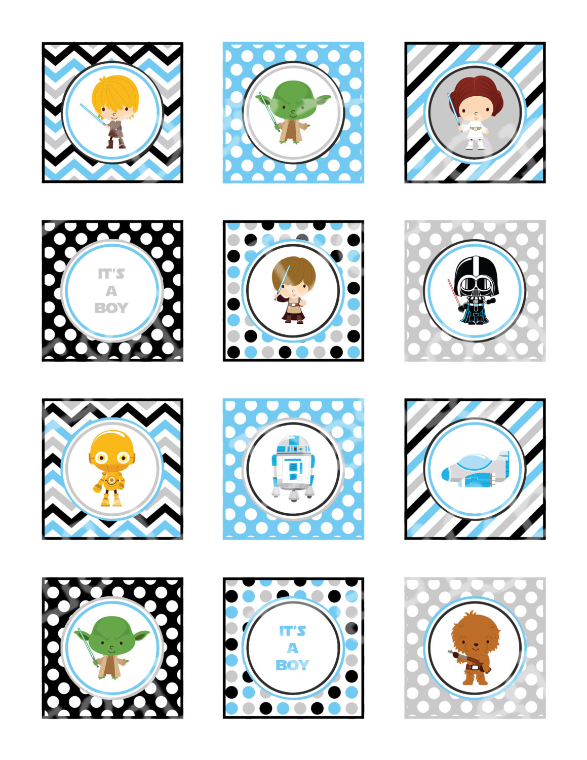 Star Wars clipart baby shower Item? Like this Toppers 2'